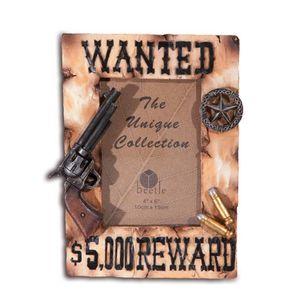 Western Bilderrahmen Pistole auf Kopfgeld Plakat 22cm – Bild 1