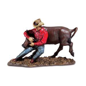 Western Cowboy beim Rodeo fängt einen Stier ein 27cm