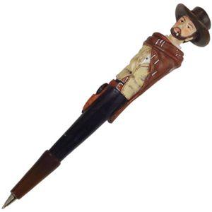 Western Kugelschreiber Cowboy mit Poncho und Hut