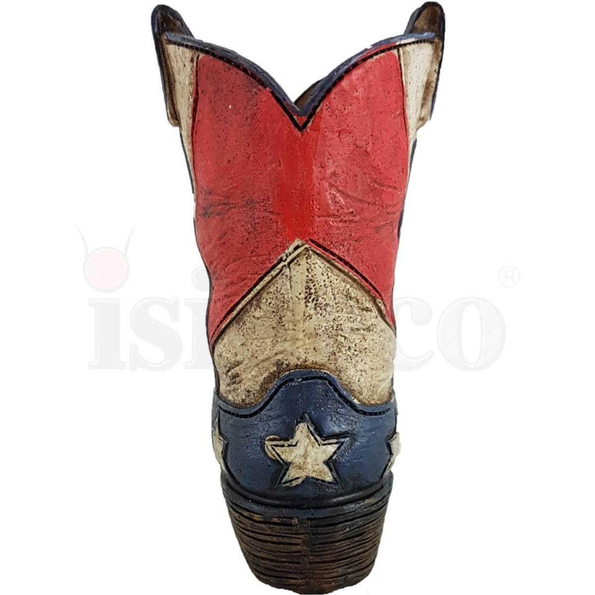 Western Stiftehalter Stiefel rot-weiß-schwarz 14,5cm
