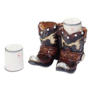 Western Salz & Peffer Streuer in Cowboystiefel 10cm – Bild 1