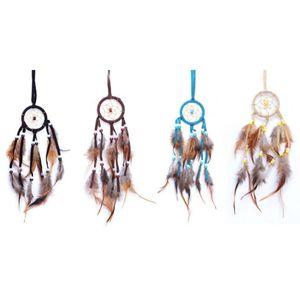 4er Set Traumfänger 4cm in verschiedenen Farben Western Indianer