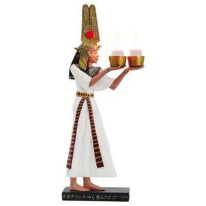 Ägyptische Pharaonin Kleopatra als doppel Teelichthalter 31cm – Bild 1