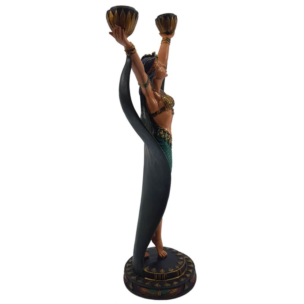 Doppel Teelichthalter Ägyptische Tänzerin 40,5cm