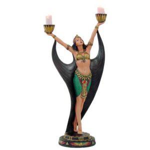 Ägyptische Tänzerin als doppel Teelichthalter 40,5cm – Bild 1