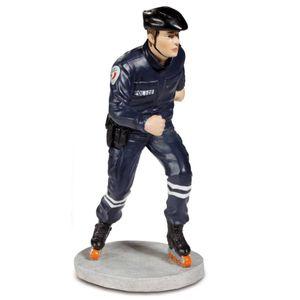 Französischer Polizist auf Rollerblades 19cm