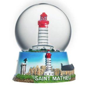 Schneekugel Leuchtturm Abtei Saint Mathieu 9cm von 1699 Frankreich