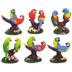 6er Set Papageien Pärchen 7cm – Bild 1