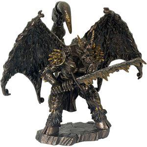 Chaos griechischer Gott mit Schwert bronziert 24cm