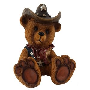 Western Spardose sitzender Bär - Bear 19cm – Bild 1