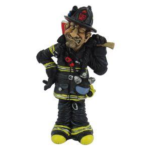 Funny Job - Feuerwehrmann trägt Axt auf der Schulter 16cm