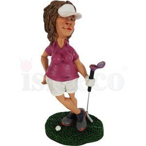 Funny Sport Golf - Golferin in Pose - Kann's los gehen? 17cm – Bild 2