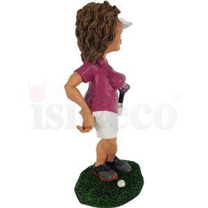 Funny Sport Golf - Golferin in Pose - Kann's los gehen? 17cm – Bild 3
