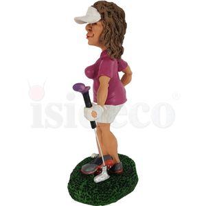 Funny Sport Golf - Golferin in Pose - Kann's los gehen? 17cm – Bild 5