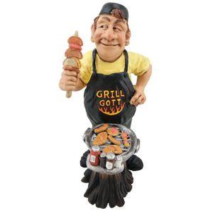 Funny Job - Grillgott am Grill mit Fleisch und Gewürze 17cm