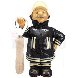 Funny World Beruf - Feuerwehr Mann hält Flaschenöffner 16,5cm – Bild 2