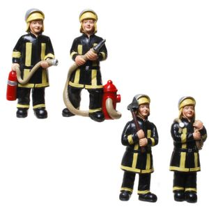 Funny World Beruf - 4er Set Feuerwehr Männer in Aktion 10cm