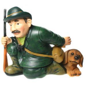 Funny World Beruf - Jäger mit Hund Flaschenhalter 19cm