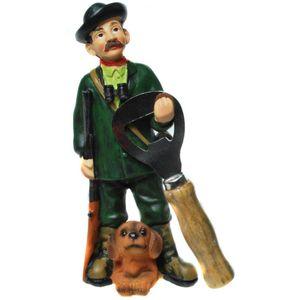 Funny World Beruf - Jäger mit Hund Flaschenöffner 16cm