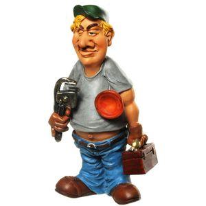 Funny World Beruf - Klempner mit Pömpel und Rohrzange 16,5cm