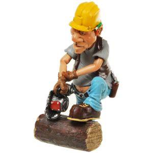 Funny World Beruf - Waldarbeiter mit Motorsäge 16cm