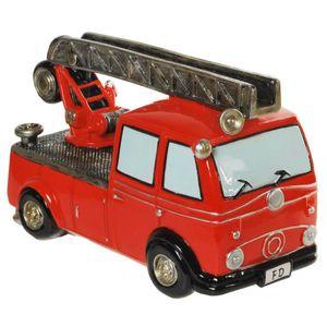 Funny World Beruf - Feuerwehr Auto Drehleiter Spardose 20,5cm