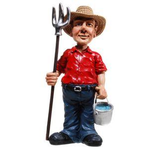 Funny World Beruf - Bauer mit Eimer und Mistgabel 17,5cm