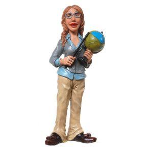 Funny World Beruf - Lehrerin mit Globus 17cm