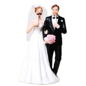 Hochzeit Brautpaar mit falschen Bart und Kussmund 13,5cm