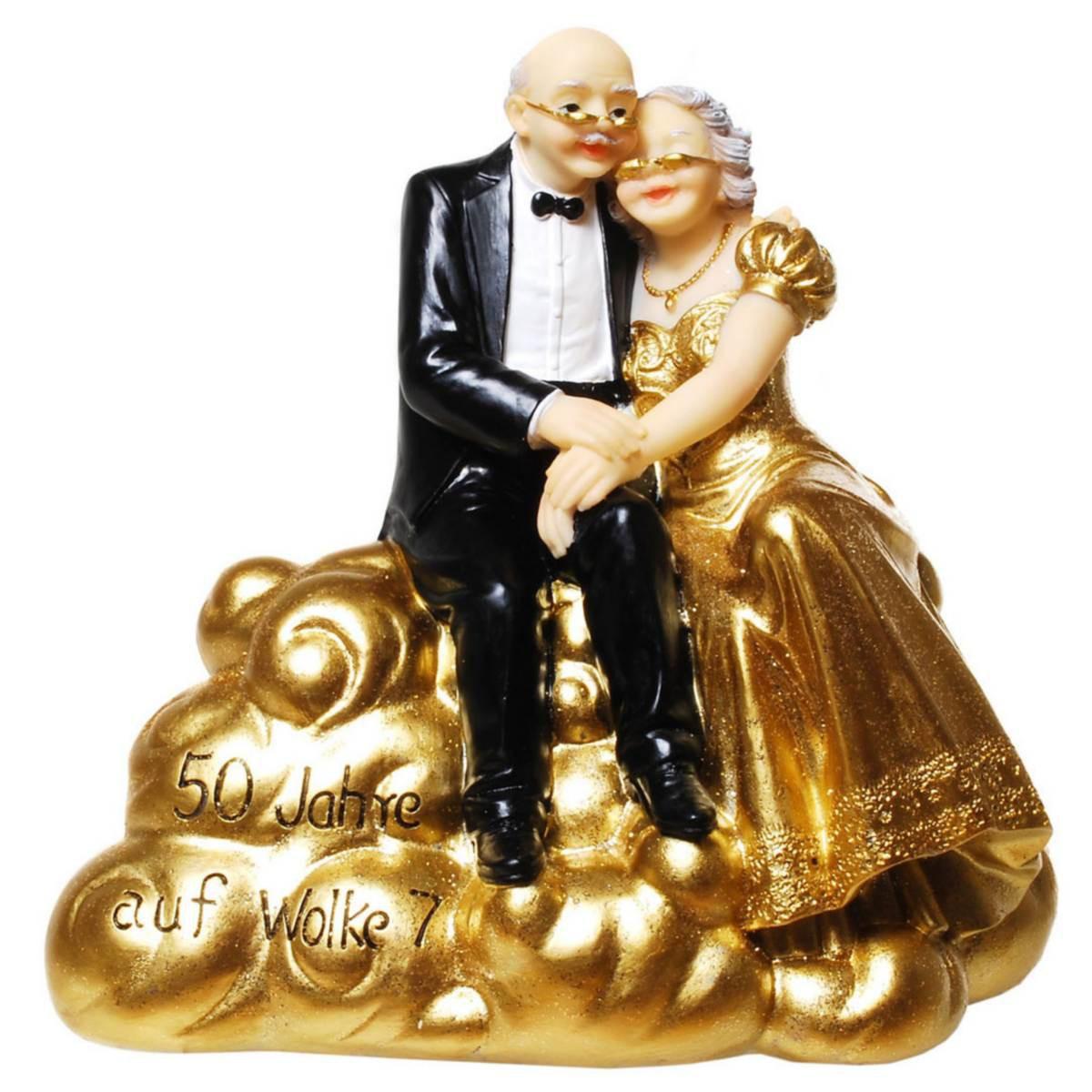 Goldene Hochzeit Spardose 165cm Brautpaar Schwebt Auf Wolke 7