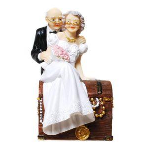 Hochzeit Spardose Brautpaar auf Schatztruhe 15cm