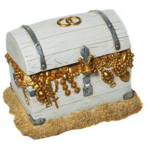 Hochzeit Spardose Schatztruhe mit goldenen Inhalt 18,5cm