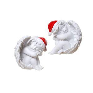 Weihnachten - 2er Set 7,5cm schlafende Weihnachts Engelchen