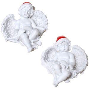 Weihnachten - 2er Set 11,5cm schlafende Weihnachts Engelchen – Bild 1