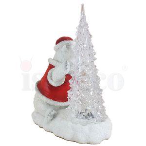 Weihnachten - Eisbär mit Farbwechsel LED Tannenbaum 19,5cm – Bild 6