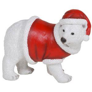 Weihnachten - Eisbär läuft im Weihnachts Kostüm 17cm – Bild 1