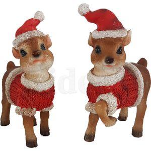 Weihnachten - 2er Set ca. 11cm Rehkitze in Weihnachts Kostüme – Bild 2