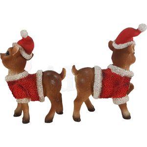 Weihnachten - 2er Set ca. 11cm Rehkitze in Weihnachts Kostüme – Bild 5