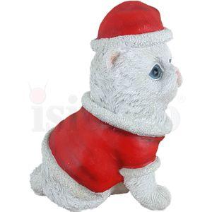 Weihnachten - Weiße Katze im Weihnachtskostüm 18cm – Bild 3