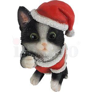 Weihnachten - Schwarze Katze im Weihnachtskostüm 16cm – Bild 2