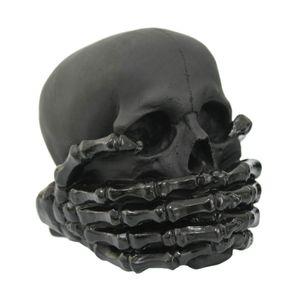 Say no Evil - Nichts sagen - Totenkopf schwarz 14cm