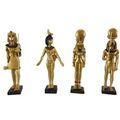 4er Set C ägyptische Figuren Tutanchamun, Selket, Sachmet, Horus 8cm