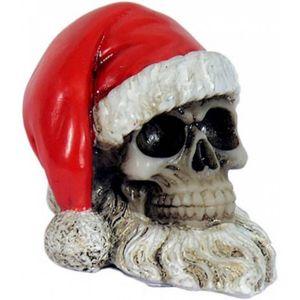Weihnachten Totenkopf 5,5cm mit Weihnachtsmütze