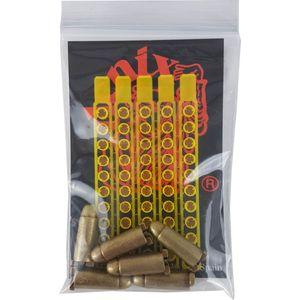 6er-Set Deko Patronen mit 50 Zündhütchen zum schießen (nur für Denix-Modelle) – Bild 1