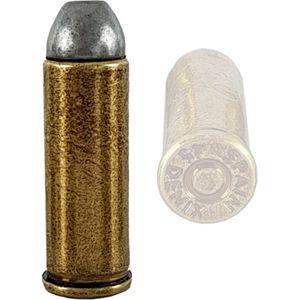 Eine goldfarbene 45er Colt Deko Patrone (original Größe - nicht für Denix Colts) – Bild 1