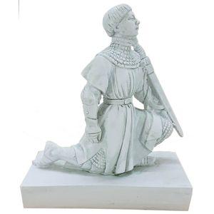 Johanna von Orleans kniet mit Schwert nach Henri Marius Petit 14cm – Bild 1