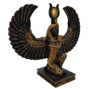 Isis - Die Schutzgöttin - kniend mit ausgebreiteten Flügeln 13cm – Bild 1