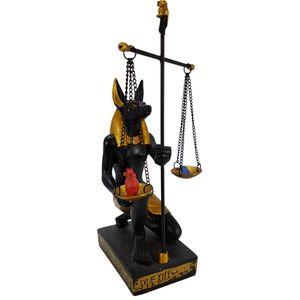 Anubis mit Waage, Feder der Maat und Herz des Toten 16cm – Bild 1
