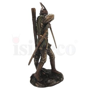 Robin Hood mit Pfeil und Bogen bronze-coloriert 31cm – Bild 3