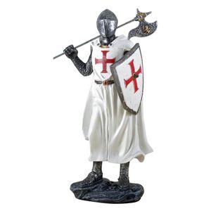 Templer Kreuzritter mit Axt stehend Ritter 18cm – Bild 1